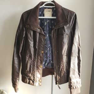 🔥 CLEARANCE Garage Faux Leather Brown Jacket